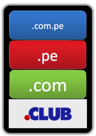 Uhorizon gestiona Dominios .COM .PE .NET .CLUB. Consulta nuestras Tarifas