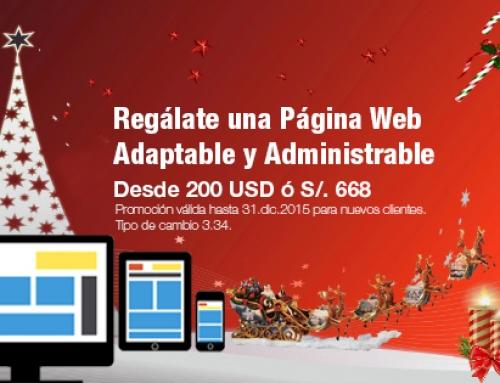 Regálate una Página Web Adaptable y Administrable en estas Fiestas